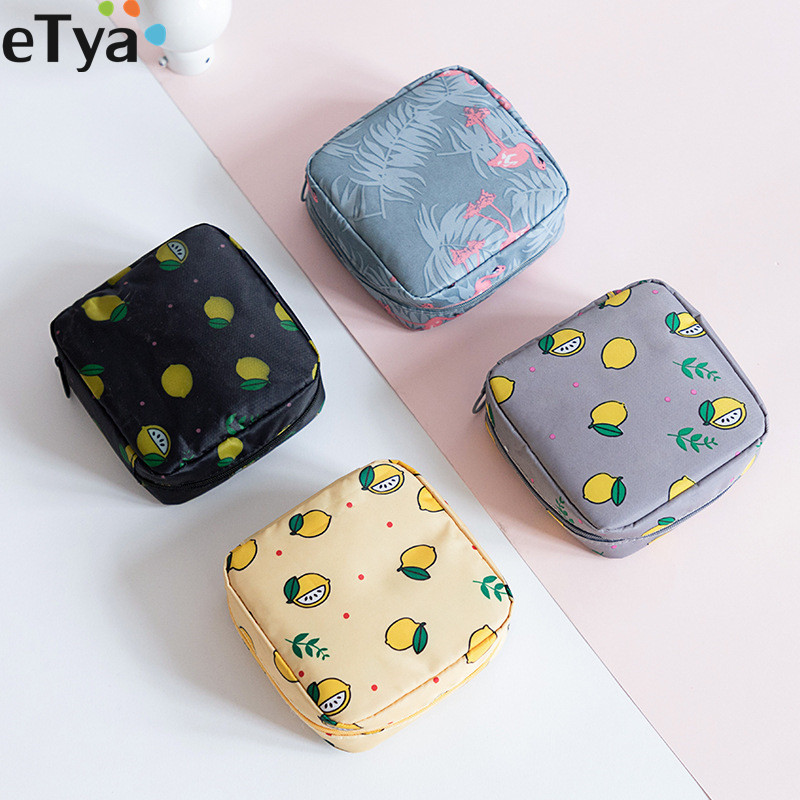 1PCS Women Mini Makeup Bags Waterproof Zipper Cute Flower Beauty Cosmetic Bags Travel Toiletry Wash Organizer Storage Bags Case