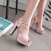 Women Pumps Fashion Women Shoes Spring/ Autumn All Match Square High Heel Wedding Shoes Ladies Pumps ghn78