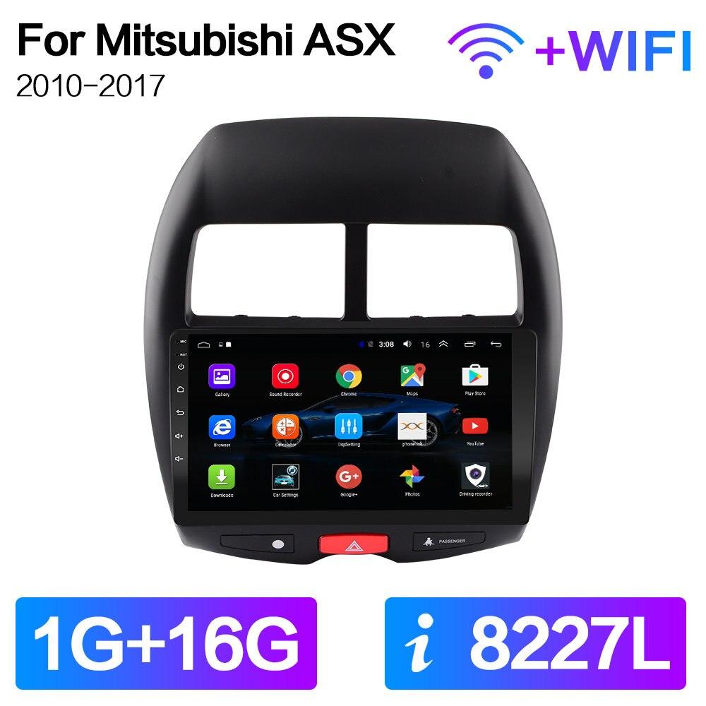 Para Mitsubishi ASX 1 C4 Peugeot 4008 marco coche Radio reproductor de vídeo Multimedia navegación GPS Android 9,0 2din 2 din