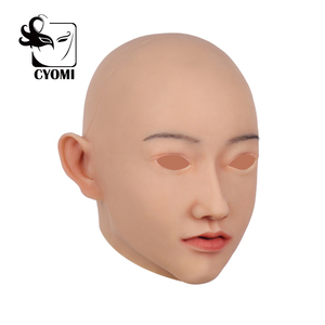 Image 2 - CYOMI Beauty Sivir أنثى اليدوية سيليكون الصف قناع رأس الجمال مصممة لمتحولين جنسيا للرقص حفلة تنكرية