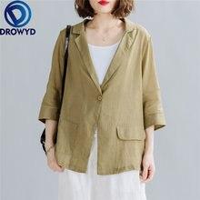 Женские Длинные блейзеры цвета хаки модная дамская офисная куртка