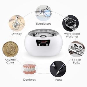 Image 5 - SKYMEN Digital Ultraschall Reiniger für Schmuck Zahnbürste Metall Dental Rasiermesser Hause Ultraschall Reinigung Maschine Timer Bad Tank