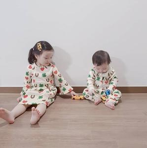 Image 3 - 2020 Ins 뜨거운 아기 소녀 옷 아이 드레스 여자 Vestidos 공주 드레스 Vestidos 여자 레깅스 pyjama 세트 가족 Matchin