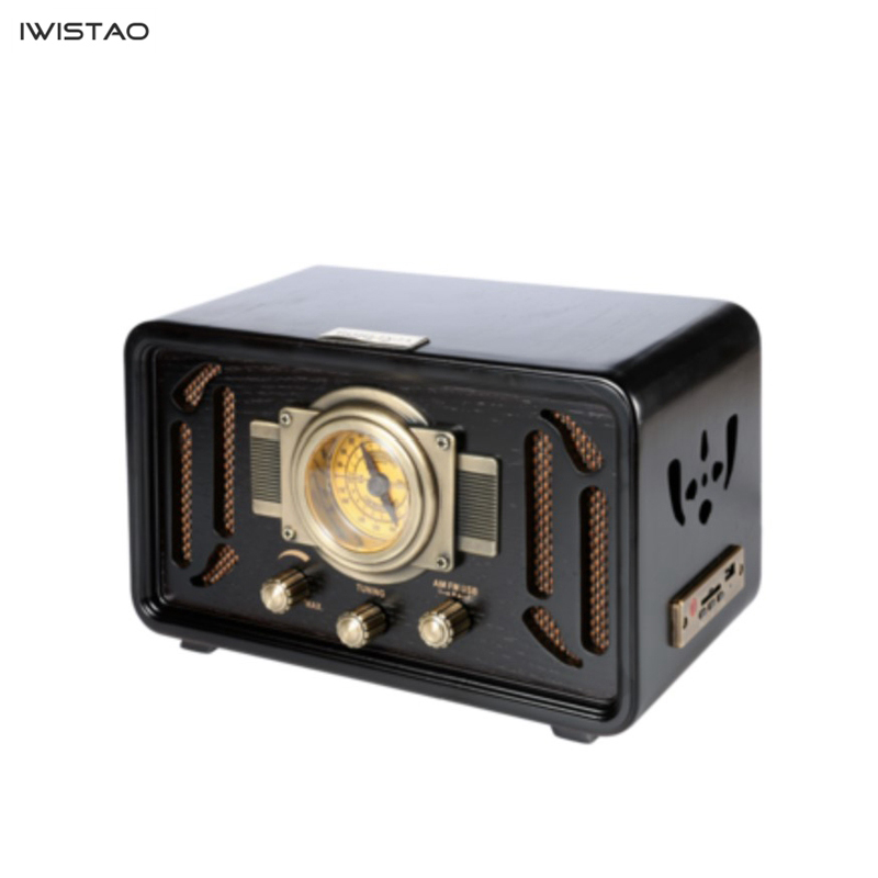 Image 2 - Retro Wooden HIFI Radio AM/FM 2x5W Desktop Speakers Rotary Tuning Support Bluetooth U Disk SD Card PlayingRadio   -