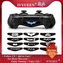 IVYUEEN 2 шт. для Dualshock 4 PS4 DS4 Pro тонкий контрольный Лер светодиодный светильник наклейка для бара наклейка крышка для playstation 4 контрольная игра скины