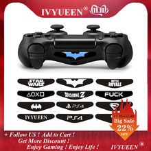 IVYUEEN 2 pcs For Dualshock 4 PS4 DS4 Pro Slim Controller LED Light Bar Decal Sticker Cover for PlayStation 4 Control Game Skins(China)