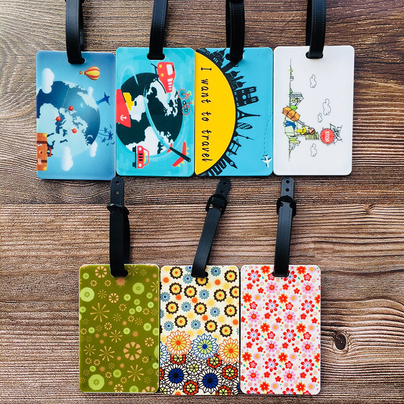 IVYYE Flower Word Anime Travel Accessories Luggage Tag Suitcase ID Portable Tags Holder Baggage Labels Gifts New