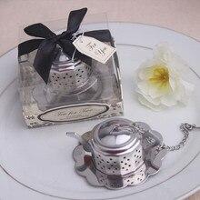 Небольшой заварочный чайник с ситечком из нержавеющей стали инструмент свадебный подарок сувениры