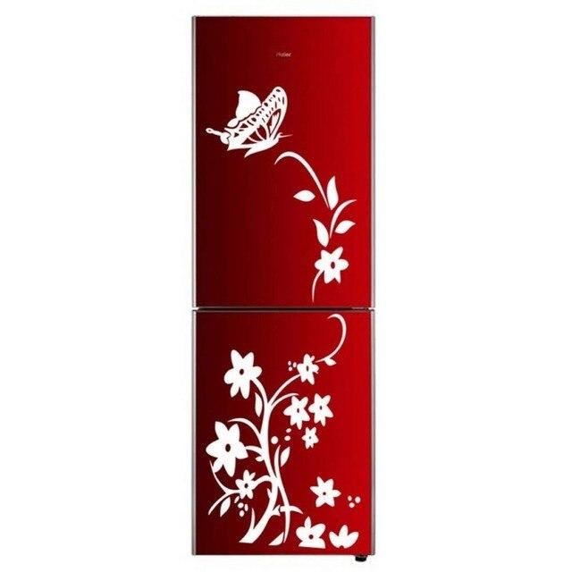 Creative butterfly flower refrigerator wallpaper home decoration mural DIY art decal children's room kitchen sticker 4