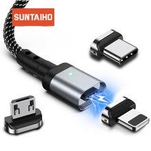 Магнитный кабель Micro USB C кабель магнитная зарядка type C Быстрая Зарядка адаптер для осветительного Кабеля Micro usb type-C магнитное зарядное устройство для iphone XS