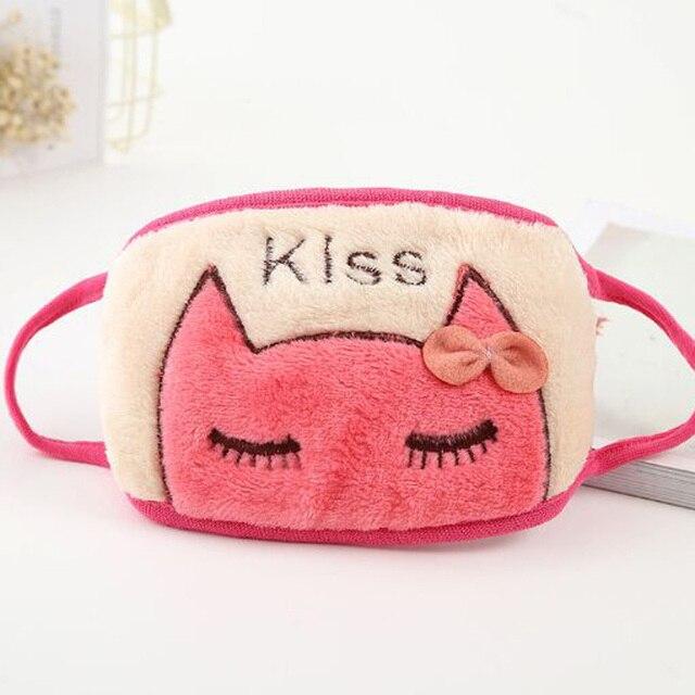 XEONGKVI Korean Cute Cartoon Cat Students Double Letters embroidery Masks Autumn Winter Warm Brand Riding Women Mouth-muffle 5