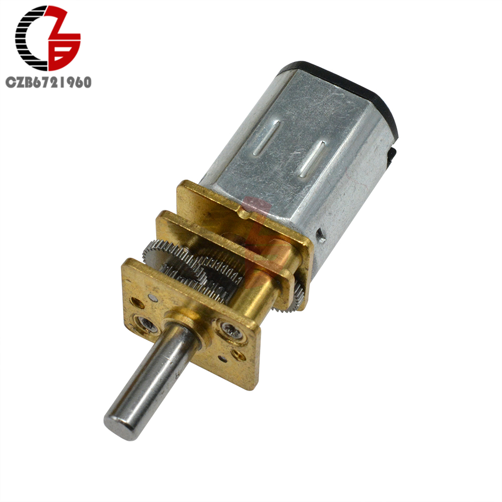 GA12-N20 DC Gear Motor 3V 6V 12V 30 60 <font><b>100</b></font> 200 300 400 500 <font><b>600</b></font> 800 1000 2000 RPM RPM Linear Motor for Fan Car Hobby Toy RC Car image
