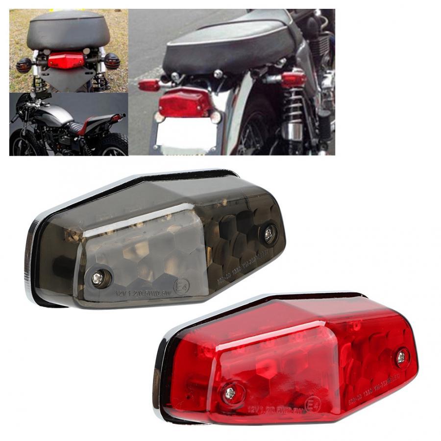 Motorcycle Tail Light Assembly,12V LED Motorcycle Taillight Brake Stop Light Motorbike Modification Accessory