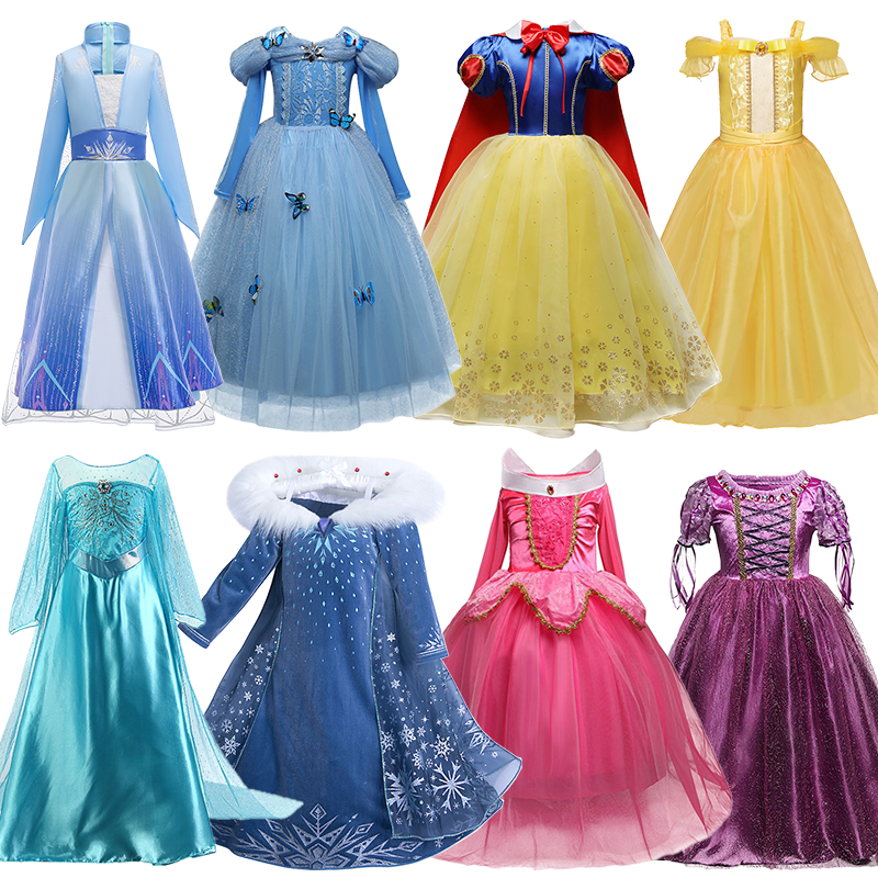 Fancy Dress For Girls Dress Costumes For Kids Halloween Party Princess Girl Dress Role-play Outfits For Children 1