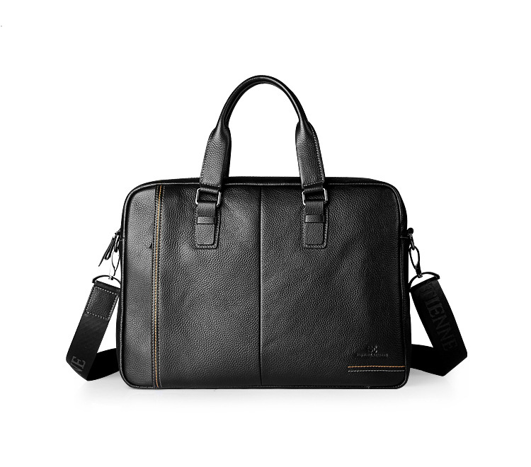 Fashion Genuine Leather Briefcase Man Handbag Laptop Bag, Commercial Briefcase