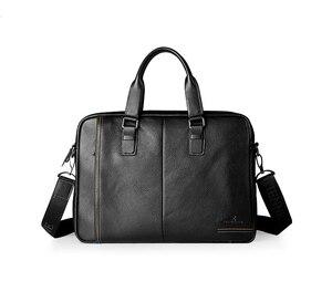 Moda oryginalna skórzana teczka mężczyzna torebka torba na laptop, aktówka handlowa