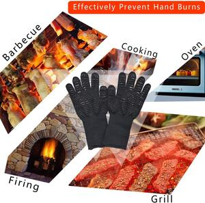 Image 5 - WALFOS  Heat Resistant BBQ grill Gloves  Premium Insulated Durable Fireproof For Cooking Baking Grilling Oven Mitts
