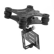 Karbon Fiber kamera Gimbal dağı FPV sönümleme PTZ Phantom Quadcopter Multicopter Gopro Hero 3 kamera için aksesuar parçaları