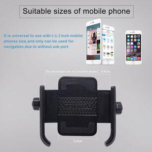 Image 5 - 360 Degree Universal Bike Aluminum Alloy Motorcycle Motorbike Handlebar Phone Holder Stand Mount For 4 6.4 inch Mobile Phone