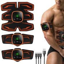 TOMSHOO-entrenador muscular Abdominal con USB, EMS, equipo de gimnasio para ejercicio de Estimulador muscular, adelgazante, máquina quemagrasas, cuerpo Abs