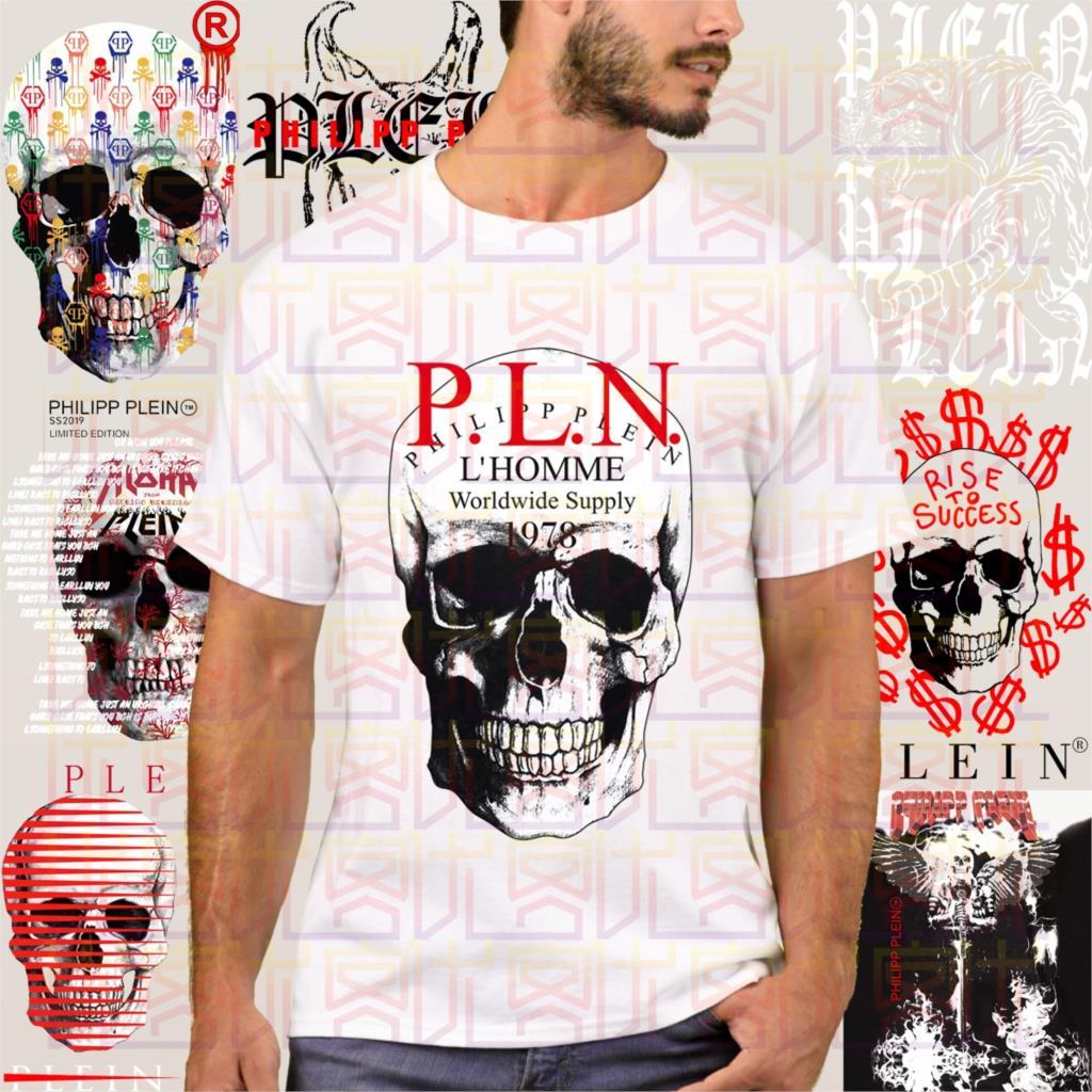 Retro Phillip T-shirt Plein Fashion Men Free Shipping Men's T-shirt Simple Short Sleeve Street White New Casual Tees  Amazing