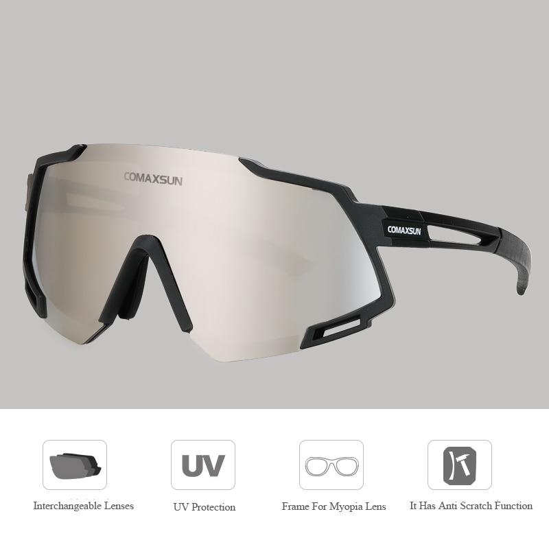 ROCKBROS Lunettes de Polarisés de Vélo Homme Femme Anti UV400 /& adapté myope