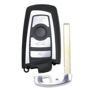 Image 2 - Guscio chiave intelligente di ricambio a 4 pulsanti per BMW CAS4 F 3 5 7 serie E90 E92 E93 X5 F10 F20 F30 F40 custodia chiave per auto remota