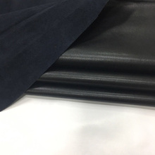 Cowskin Poly urethane Black leather 1.4mm genuine Clear lines microfiber Skin Napa veins Free shipping