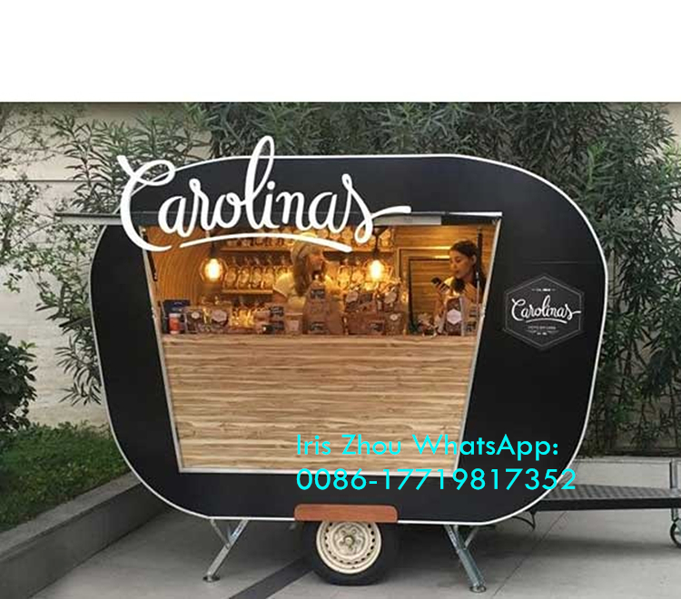 Size Customized Multi-function Coffee Carts Food Trailer Mobile Food Van