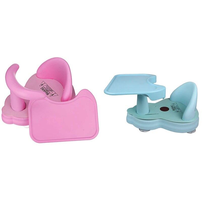 Baby Multi-Function Folding Seat Newborn Bath Seat Kids Folding Bath Seat Dining Chair Kid Tub with Removable Plate