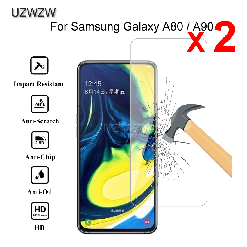 2pcs Premium Tempered Glass For Samsung Galaxy A80 A90 Protective Tempered Glass Screen Protector For Samsung A90 A80 Glass