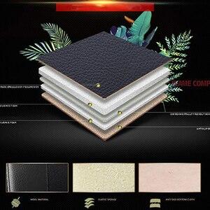 Image 4 - Kalaisike leather plus flax 범용 카시트 커버 미쓰비시 모든 모델 pajero dazzle asx lancer pajero sport outlander