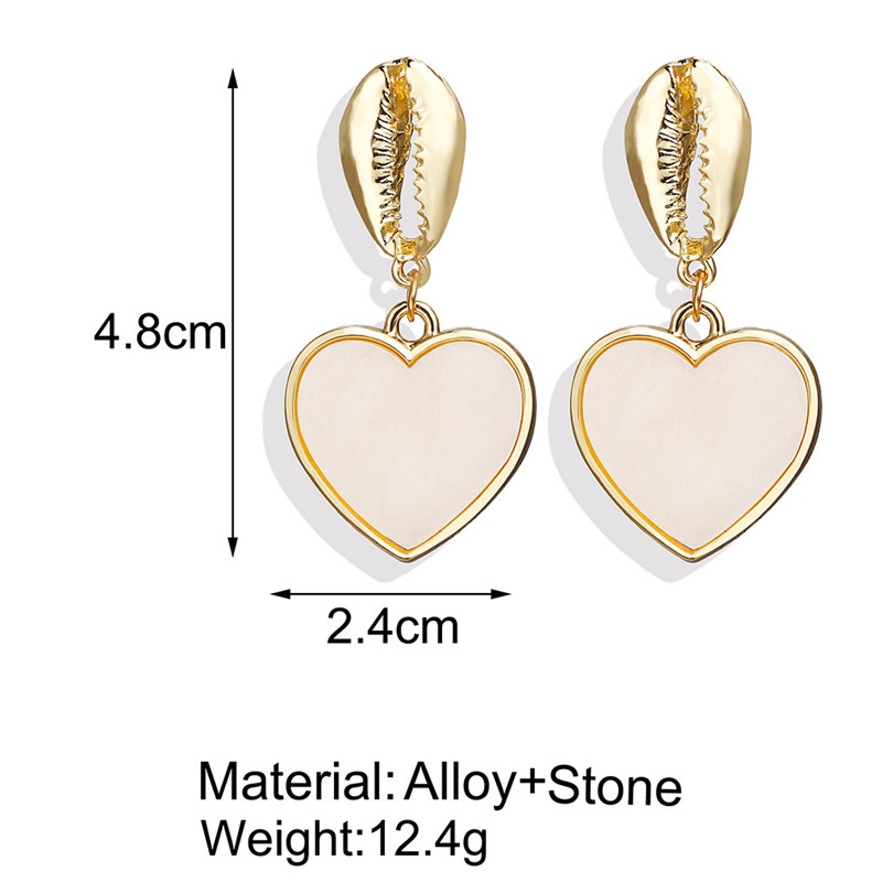 Simple Metallic Stud Earrings Gold Outer Ring Irregular Shape Love Acrylic Earrings Ladies Jewelry Boucle D`Oreille Femme 30AUG611