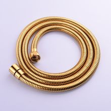 Bathroom Shower Accessories Gold Stainless Steel Encrypted Shower Hose Hand Held Shower Shower Explosion-proof Hose Extension(China)