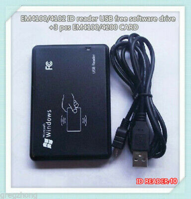 EM4100/4102 ID USB Free Software Drive +3 Pcs EM4100/4102 CARD Reader Player