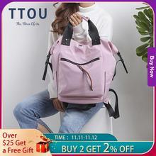 TTOU Nylon sac à dos femmes sacs à dos décontractés dames haute capacité retour au sac décole adolescentes voyage étudiants Mochila Bolsa