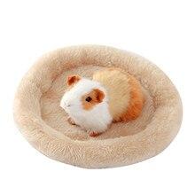 Pet Bed 6 Colors S/L supplies Hamster Nest Pad Velvet Warm Pet Nest Arctic Cotton Cushion Hamster Hedgehog Chinchilla Rabbit