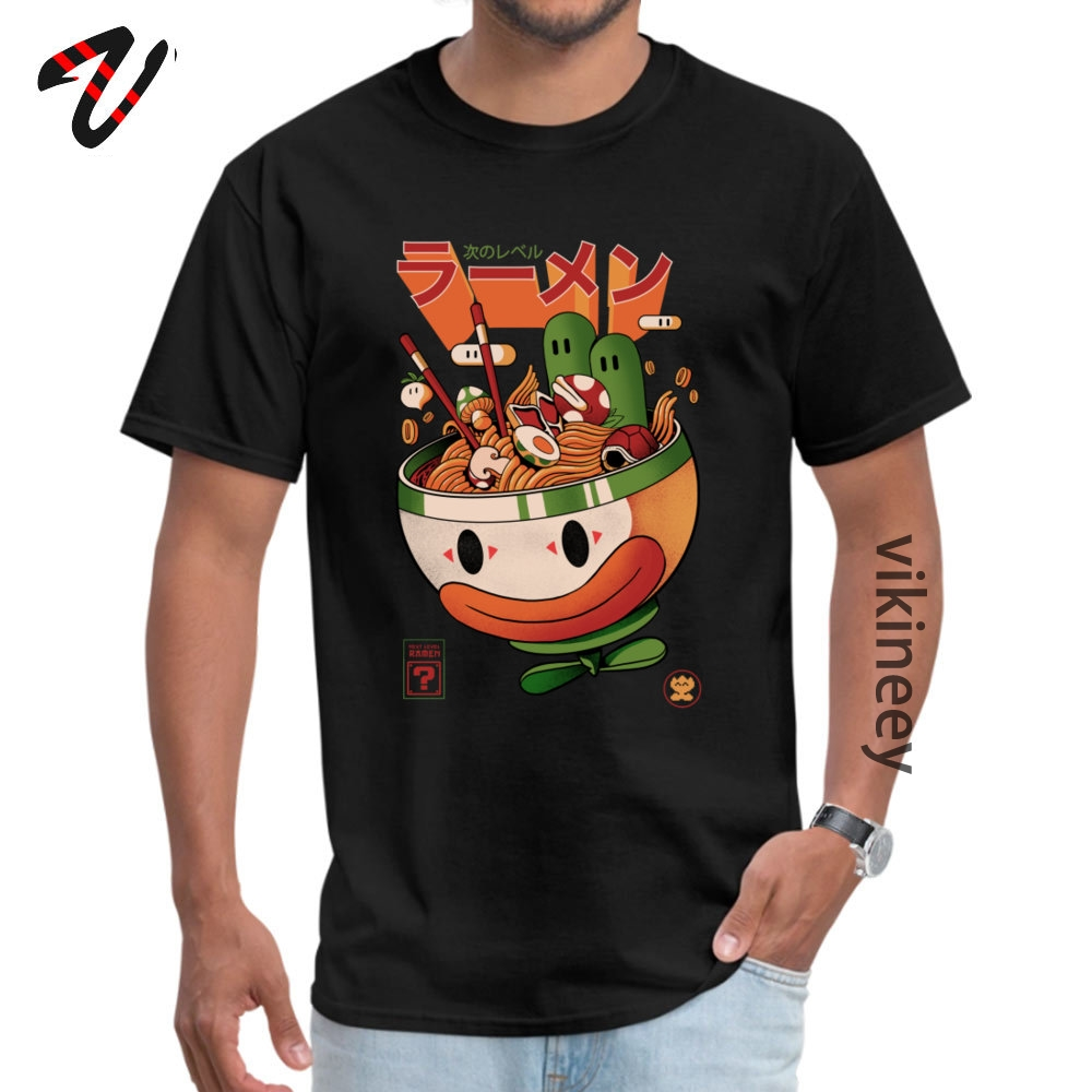 Pickle Ramen Japanese Black Top T-shirts for Men Funky Fitness Pure Cotton Short Sleeve Clothing Shirt T Kawaii Graphic TeeShirt