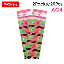 20pcs Ag4 Alkaline Coin Cell AG4 Battery 177 376 377 565 377A D377 G4 GA4 LR626 LR66 SR626 SR626SW For Watches Calculators Toys(China)