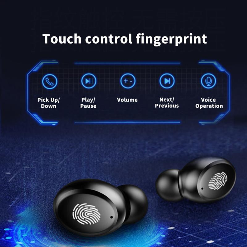 lowest price 4000mAh TWS Bluetooth Earphone 5 0 9D Stereo Wireless Headphones Touch Control IPX7 Waterproof Wireless Earphones Power Bank
