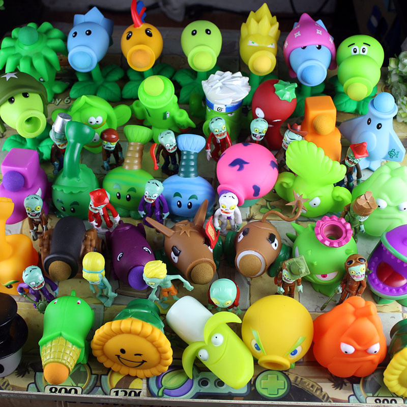 2019 PVZ Plants vs Zombies Peashooter Action anime Figure Model Toy Gifts Toys For Children High Quality Launch Squishy Plants(China)
