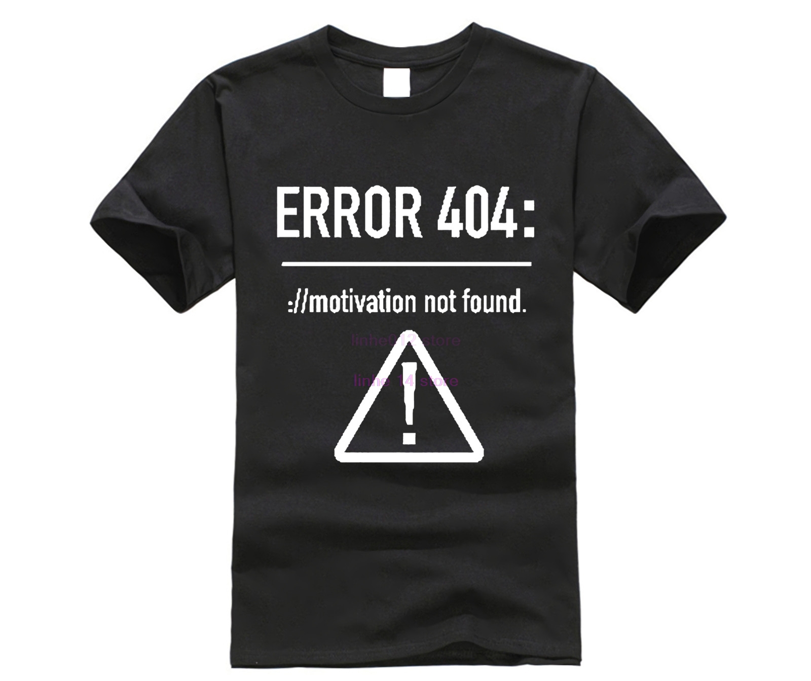 Men T <font><b>Shirts</b></font> Funny Letters Design <font><b>Error</b></font> <font><b>404</b></font> Motivation Not Found Cotton Summer Top Tees Tshirt image