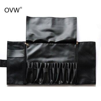 24 Pockets Black Multi-function Makeup Brushes Bag Professional Cosmetic Tools Storage Holder for Brushes dlya kistey organayzer 1