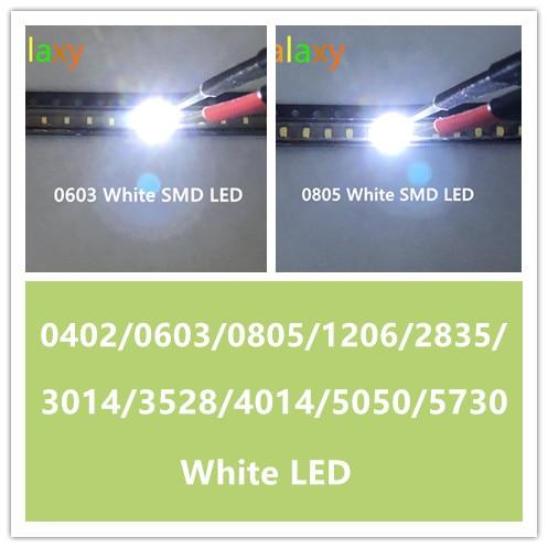 200pcs White super bright 1206 SMD Led Light Bulbs Lamp Car SMT Brightness
