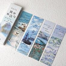 30Pcs Kawaii Planeet Bladwijzer Sterrenhemel Briefpapier Creatieve Galaxy Sky Bookmark Papier Verdelers Boek Pagina Holder Schoolbenodigdheden