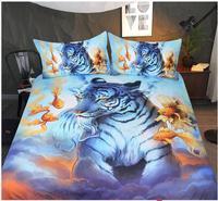 Bedding Set Tiger Printed Duvet Cover Bed Set Animal Bedclothes For Adults