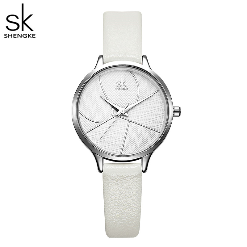Shengke Simple Women Watches Ladies Casual Leather Quartz Watch Female Clock Relogio Feminino Montre Femme Zegarek Damski
