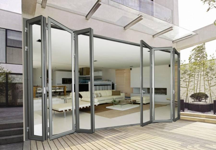 Hench China Wooden Aluminum Doors Windows  Bi-folding Doors Wholesale Factory Hc-a14