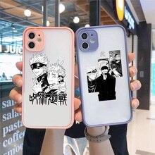 Jujutsu Kaisen Satoru Gojo çizgi roman telefon kılıfı mat şeffaf Iphone 12 Mini 7 8 artı X Xs Xr 11 pro Max Funda Coque kabuk