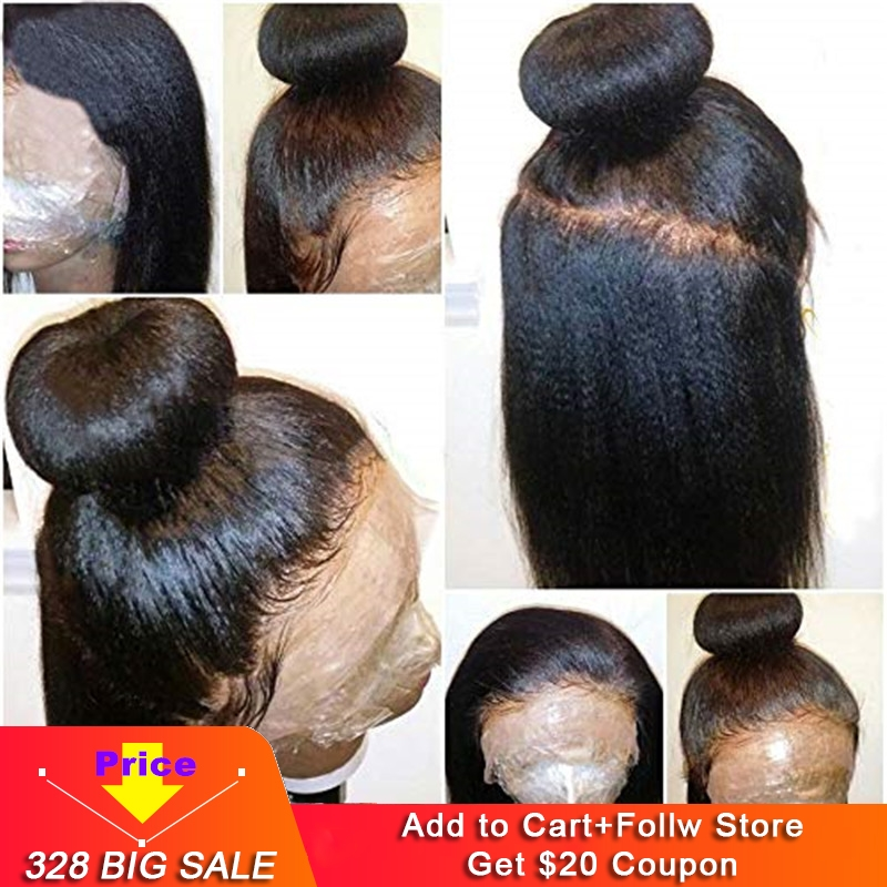 360 Lace Frontal Wigs Human Hair 150 Density Diosa Hair Italian Light Yaki Straight Lace Frontal For Black Women Pre Plucked